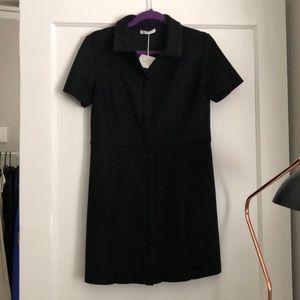 Black suede dress